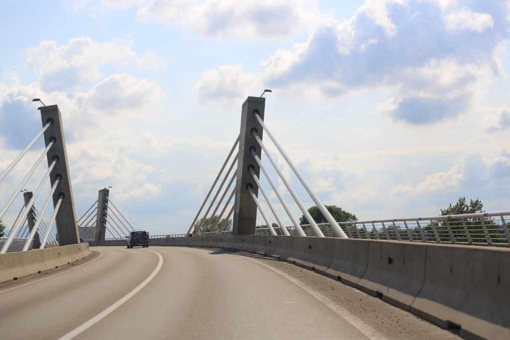 Most přes Drávu v Ptuji je dobrým orientačním bodem.