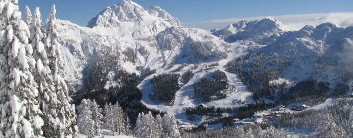 Landschaft tief verschneit Nassfeld-Hermagor